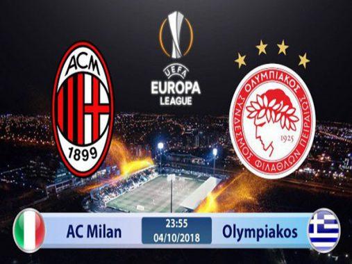Link Sopcast: AC Milan vs Olympiakos, 23h55 ngày 04/9
