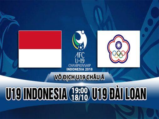 Nhận định U19 Indonesia vs U19 Đài Loan, 19h00 ngày 18/10: VCK U19 châu Á 2018