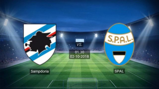 Link Sopcast: Sampdoria vs Spal, 01h30 ngày 02/10