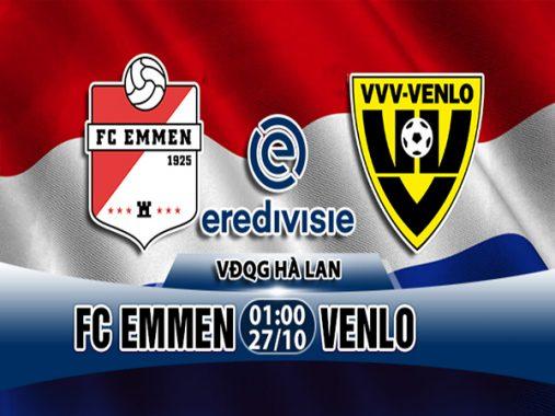 Nhận định Emmen vs Venlo, 01h00 ngày 27/10: VĐQG Hà Lan