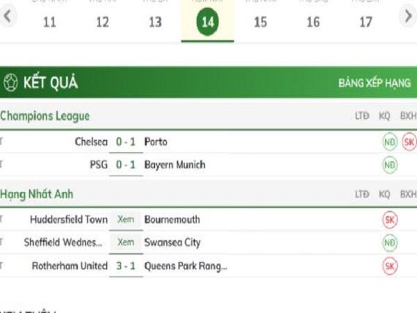 Kết quả bóng đá trực tuyến trên bongdaplus. vn