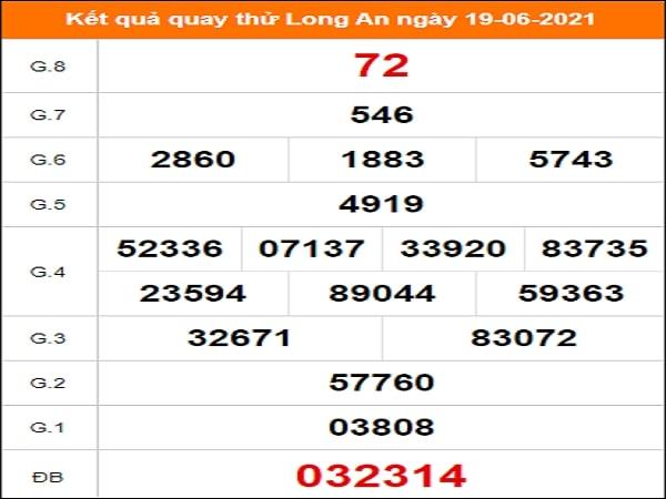 Quay thử xổ số Long An ngày 19/6/2021