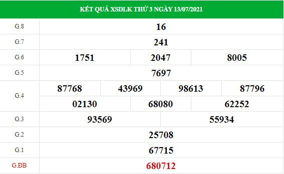 Phân tích XSDLK ngày 20/7/2021 hôm nay thứ 3 chính xác