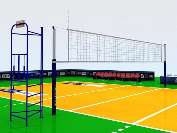 Kích thước sân bóng chuyền tiêu chuẩn theo quy định FIVB