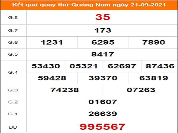 Quay thử xổ số Quảng Nam ngày 21/9/2021