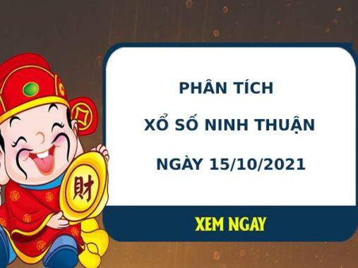 Phân tích xổ số Ninh Thuận 15/10/2021 thứ 6 hôm nay chuẩn xác